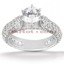 Platinum Diamond Engagement Ring 2.46ct