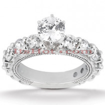 Platinum Diamond Engagement Ring 3.52ct