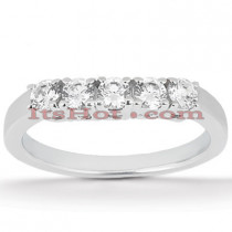 Thin Platinum Diamond Engagement Ring Band 0.20ct