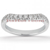 Thin Platinum Diamond Engagement Ring Band 0.33ct