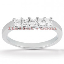 Thin Platinum Diamond Engagement Ring Band 0.50ct