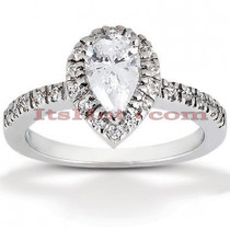 Halo Platinum Diamond Engagement Ring Mounting 0.25ct