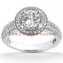 Halo Platinum Diamond Engagement Ring Mounting 0.29ct