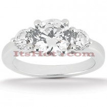 Ultra Thin Platinum Diamond Engagement Ring Mounting 0.30ct