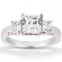 Ultra Thin Platinum Diamond Engagement Ring Mounting 0.34ct