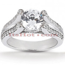 Platinum Diamond Engagement Ring Mounting 0.38ct