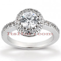 Halo Platinum Diamond Engagement Ring Mounting 0.39ct
