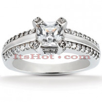 Platinum Diamond Engagement Ring Mounting 0.39ct
