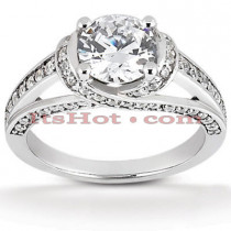 Platinum Diamond Engagement Ring Mounting 0.49ct