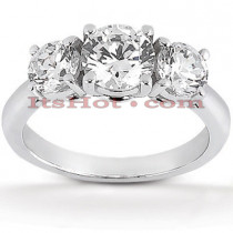 Ultra Thin Platinum Diamond Engagement Ring Mounting 0.50ct