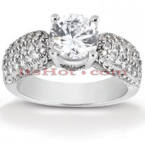 Platinum Diamond Engagement Ring Mounting 0.51ct