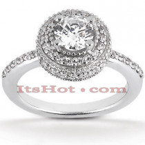 Halo Platinum Diamond Engagement Ring Mounting 0.56ct