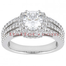 Platinum Diamond Engagement Ring Mounting 0.58ct