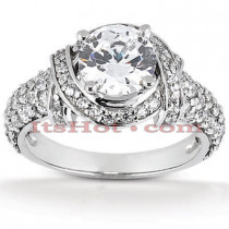 Platinum Diamond Engagement Ring Mounting 0.96ct