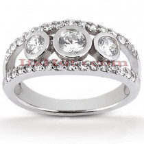 Platinum Diamond Engagement Ring Mounting 1.64ct
