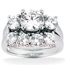 Platinum Diamond Engagement Ring Mounting Set 0.78ct