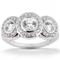Platinum Diamond Engagement Ring Mounting Set 1.55ct
