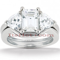 Platinum Diamond Engagement Ring Set 1.15ct