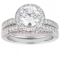 Platinum Diamond Engagement Ring Set 2.10ct