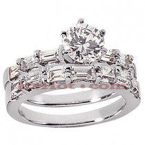 Platinum Diamond Engagement Ring Set 2.47ct