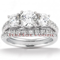 Platinum Diamond Engagement Ring Set 2.53ct