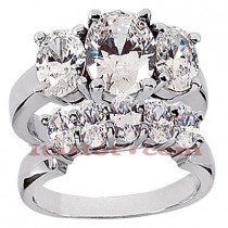 Platinum Diamond Engagement Ring Set 4.75ct