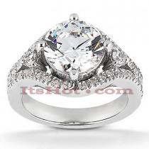 Platinum Diamond Engagement Ring Setting 0.26ct