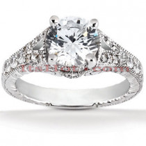 Platinum Diamond Engagement Ring Setting 0.28ct