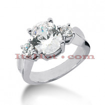 Thin Platinum Diamond Engagement Ring Setting 0.30ct