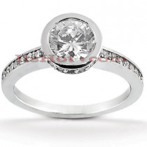 Platinum Diamond Engagement Ring Setting 0.31ct