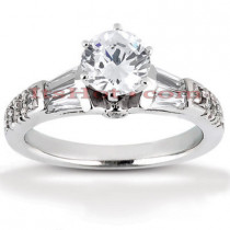 Platinum Diamond Engagement Ring Setting 0.33ct
