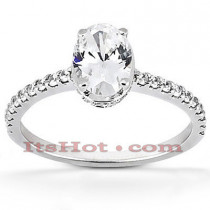 Platinum Diamond Engagement Ring Setting 0.35ct