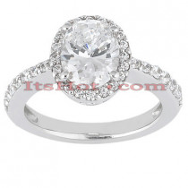 Halo Platinum Diamond Engagement Ring Setting 0.36ct