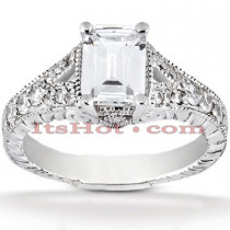Platinum Diamond Engagement Ring Setting 0.39ct