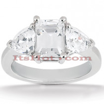 Ultra Thin Platinum Diamond Engagement Ring Setting 0.40ct