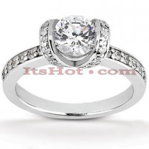 Platinum Diamond Engagement Ring Setting 0.42ct