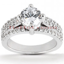 Platinum Diamond Engagement Ring Setting 0.48ct