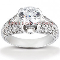 Platinum Diamond Engagement Ring Setting 0.50ct