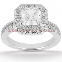 Halo Platinum Diamond Engagement Ring Setting 0.52ct