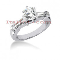 Platinum Diamond Engagement Ring Setting 0.58ct