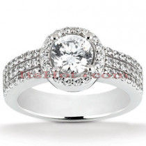 Halo Platinum Diamond Engagement Ring Setting 0.60ct