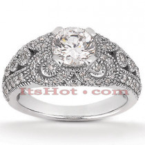 Platinum Diamond Engagement Ring Setting 0.65ct