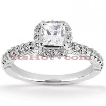 Halo Platinum Diamond Engagement Ring Setting 0.72ct