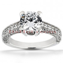 Platinum Diamond Engagement Ring Setting 0.74ct