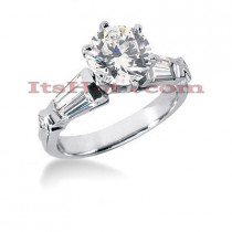 Platinum Diamond Engagement Ring Setting 0.90ct