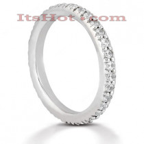 Thin Platinum Diamond Eternity Band 0.64ct