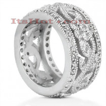 Platinum Diamond Eternity Band 0.67ct