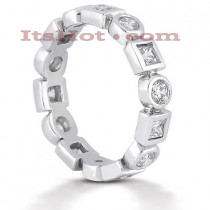 Platinum Diamond Eternity Band 1.12ct