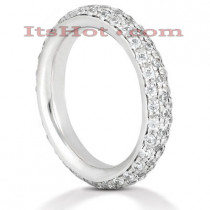 Thin Platinum Diamond Eternity Band 1.20ct