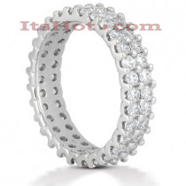 Platinum Diamond Eternity Band 1.74ct
